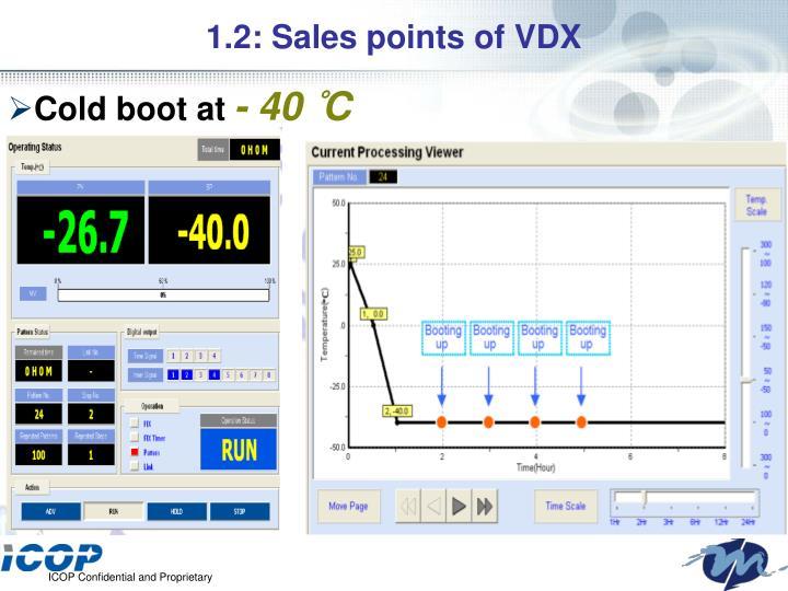 1.2: Sales points of VDX