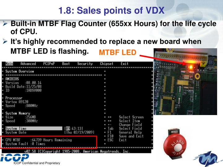1.8: Sales points of VDX