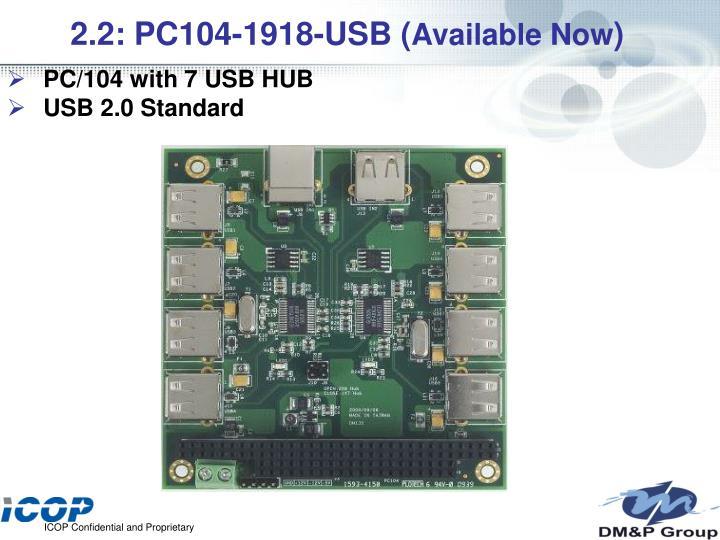 2.2: PC104-1918-USB (