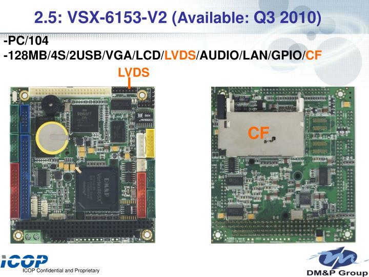 2.5: VSX-6153-V2 (