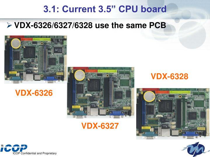 """3.1: Current 3.5"""" CPU board"""