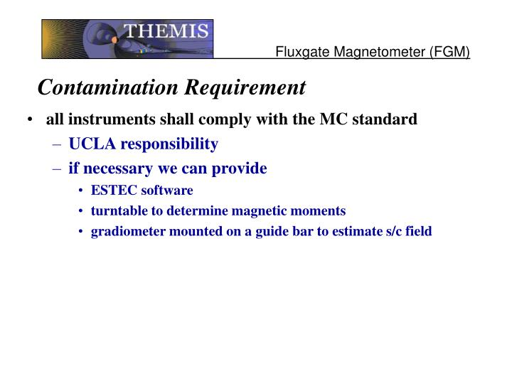 Contamination Requirement