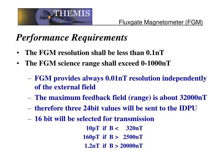 Performance requirements1