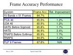 frame accuracy performance1