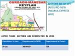 sectors 98 to 115 around new dwarka express way