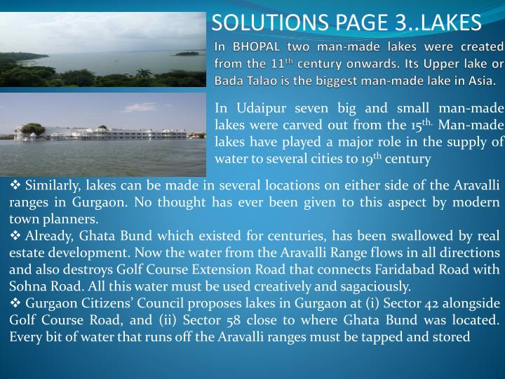 SOLUTIONS PAGE 3..LAKES