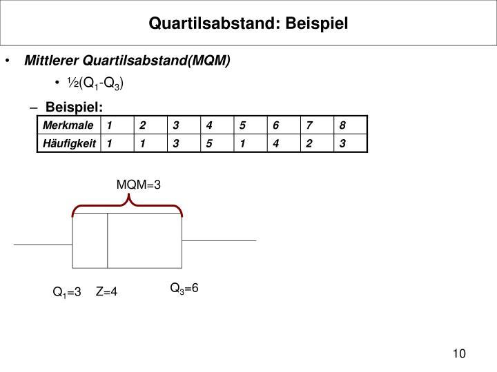Quartilsabstand: Beispiel