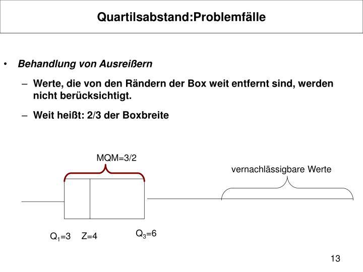 Quartilsabstand:Problemfälle