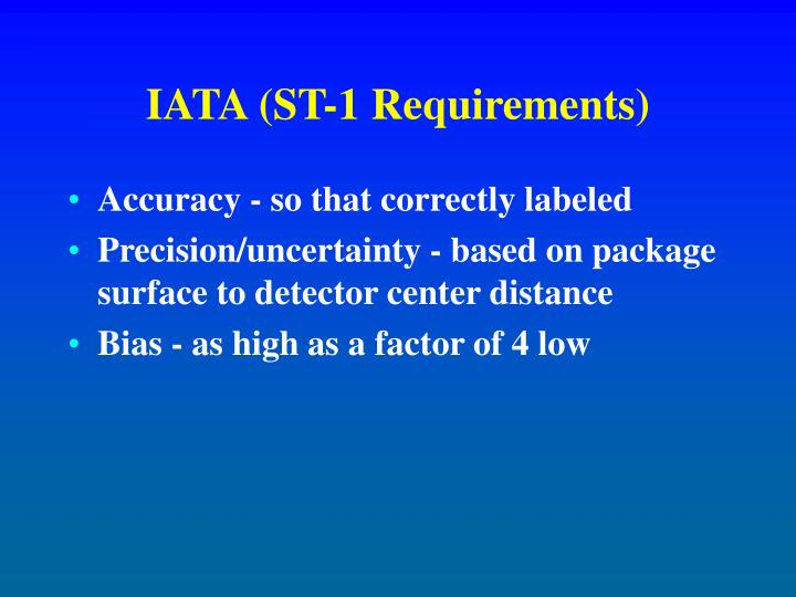 IATA (ST-1 Requirements)