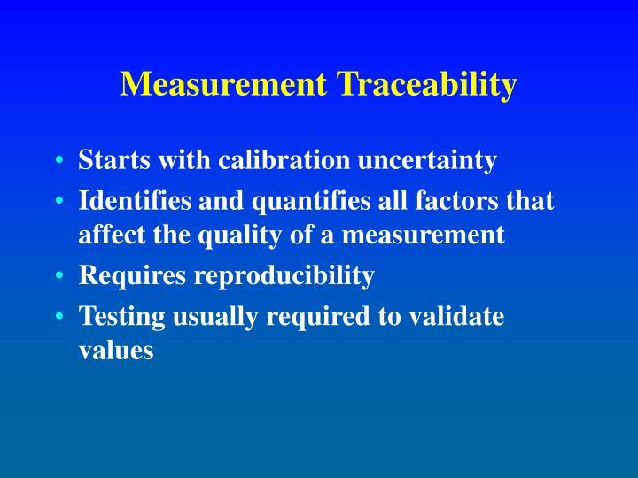 Measurement Traceability