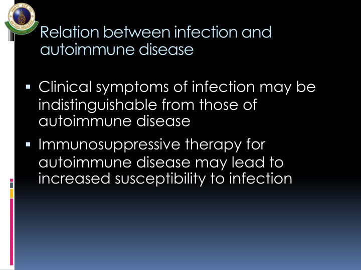 Relation between infection and autoimmune disease