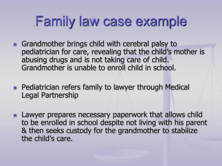 Family law case example
