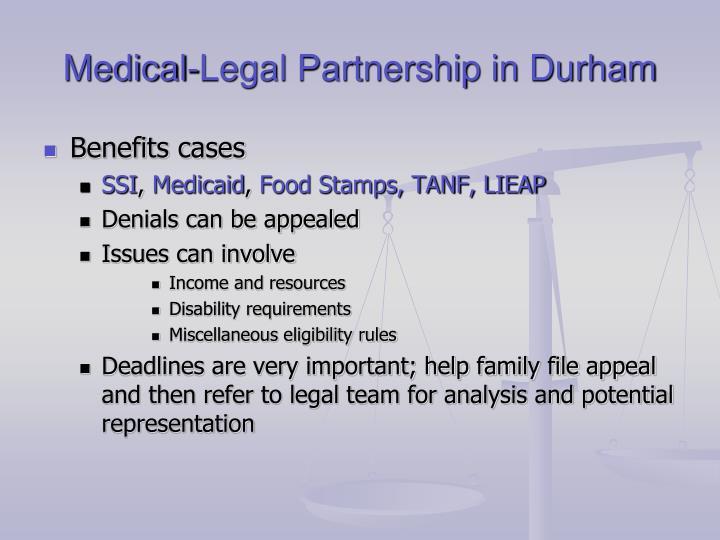 Medical-Legal Partnership in Durham