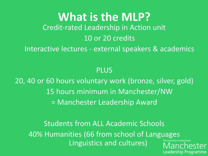 What is the MLP?