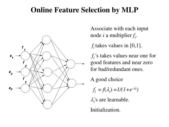 Online Feature Selection by MLP