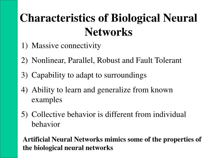 Characteristics of Biological Neural Networks