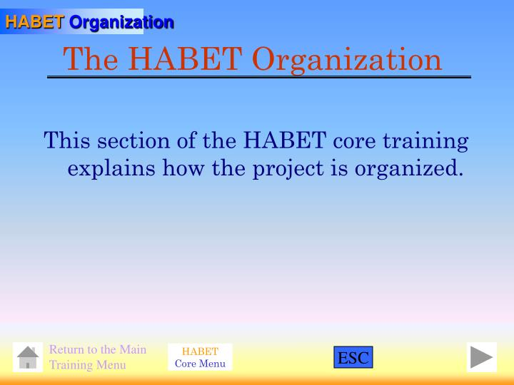 The habet organization