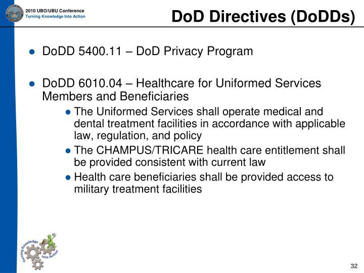 DoD Directives (DoDDs)