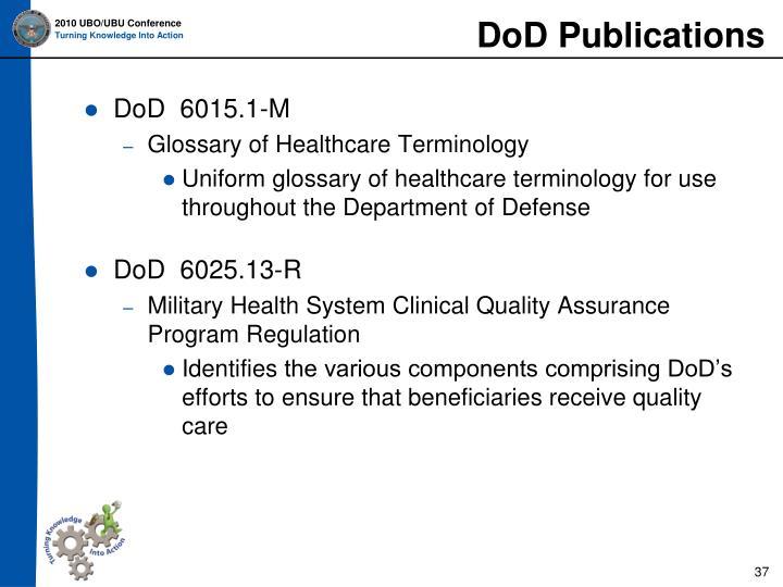 DoD Publications