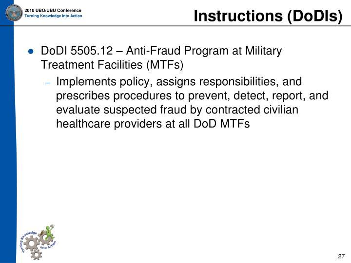 Instructions (DoDIs)