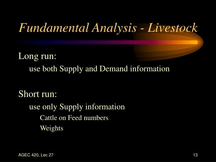 Fundamental Analysis - Livestock