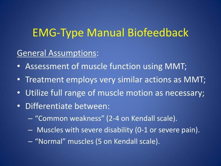 EMG-Type Manual Biofeedback