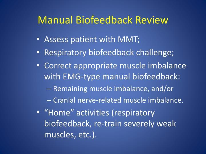 Manual Biofeedback Review