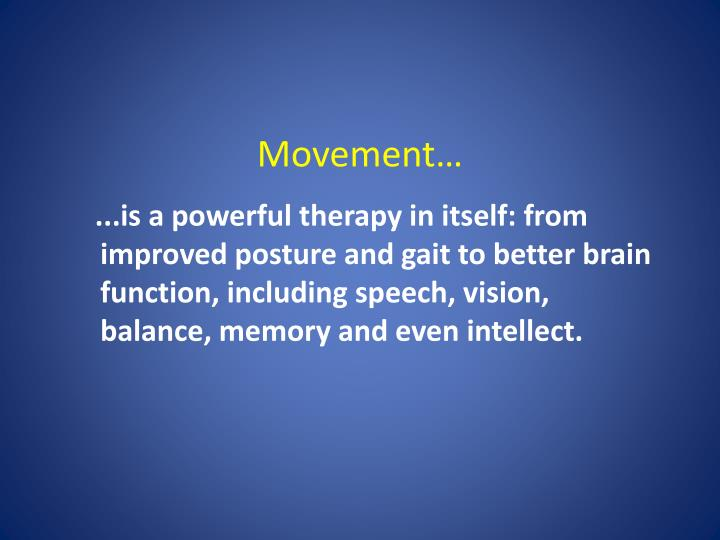 Movement…