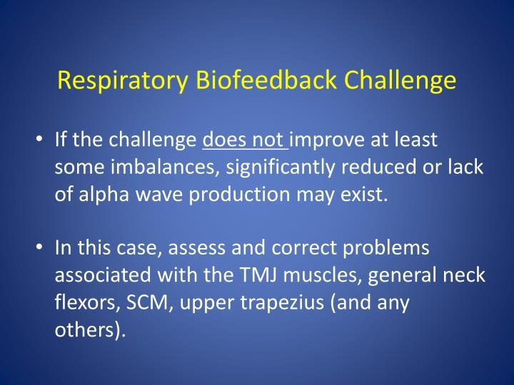 Respiratory Biofeedback Challenge