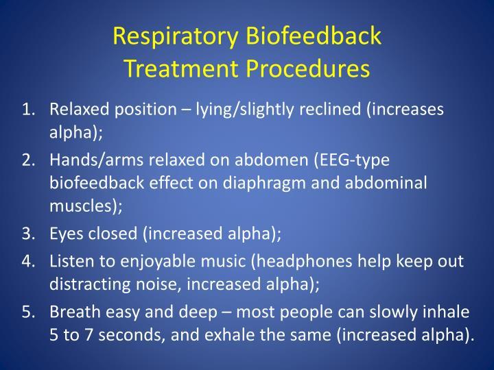 Respiratory Biofeedback