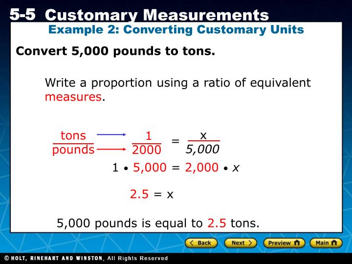 Example 2: Converting Customary Units