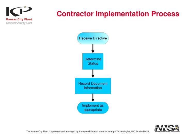 Contractor Implementation Process