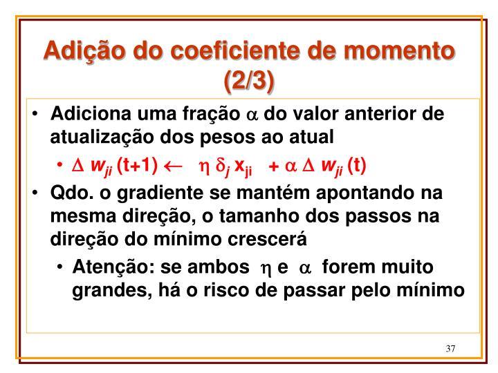 Adição do coeficiente de momento (2/3)