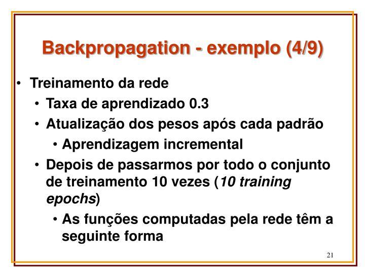 Backpropagation - exemplo (4/9)