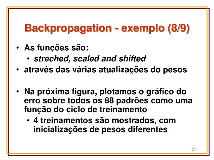 Backpropagation - exemplo (8/9)