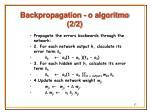backpropagation o algoritmo 2 2