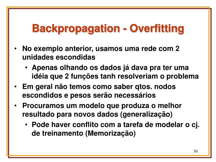 Backpropagation - Overfitting