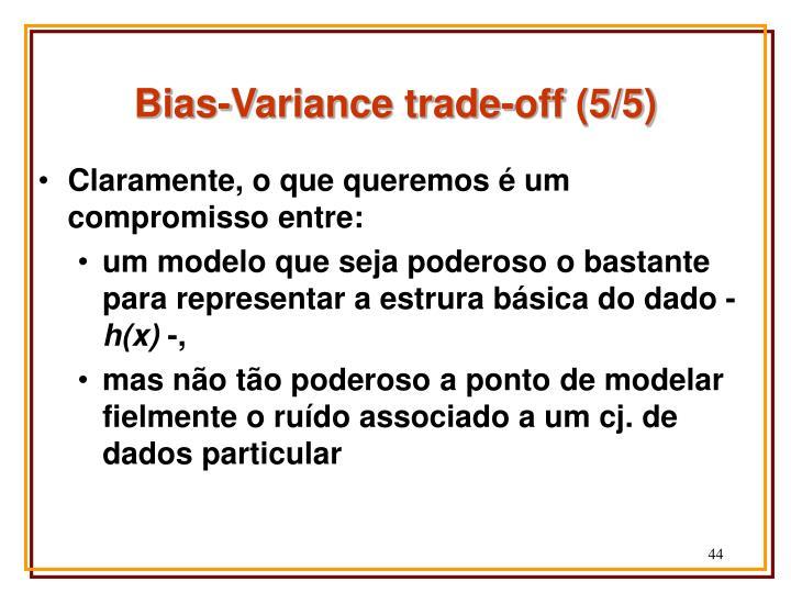 Bias-Variance trade-off (5/5)