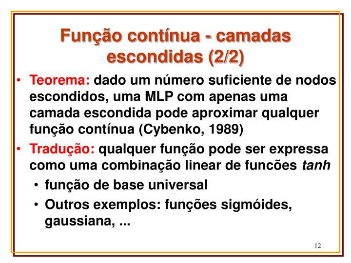 Função contínua - camadas escondidas (2/2)