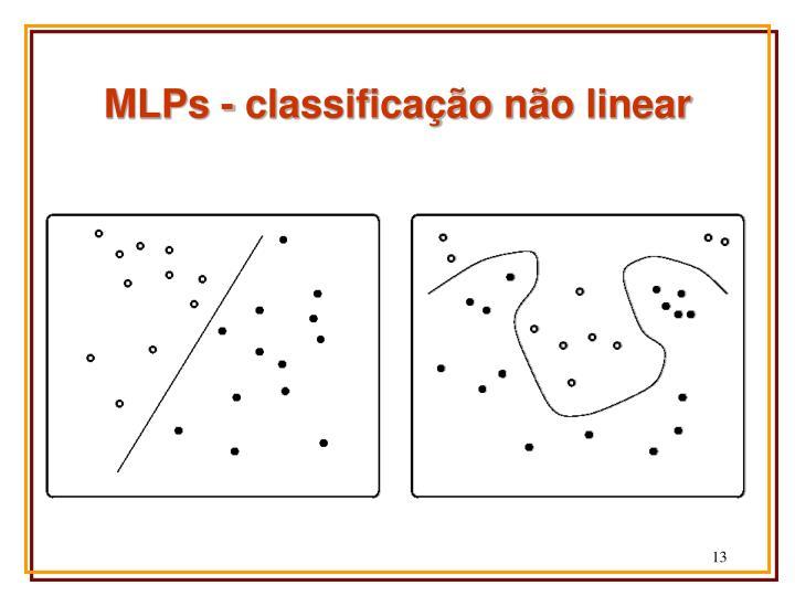 MLPs - classificação não linear