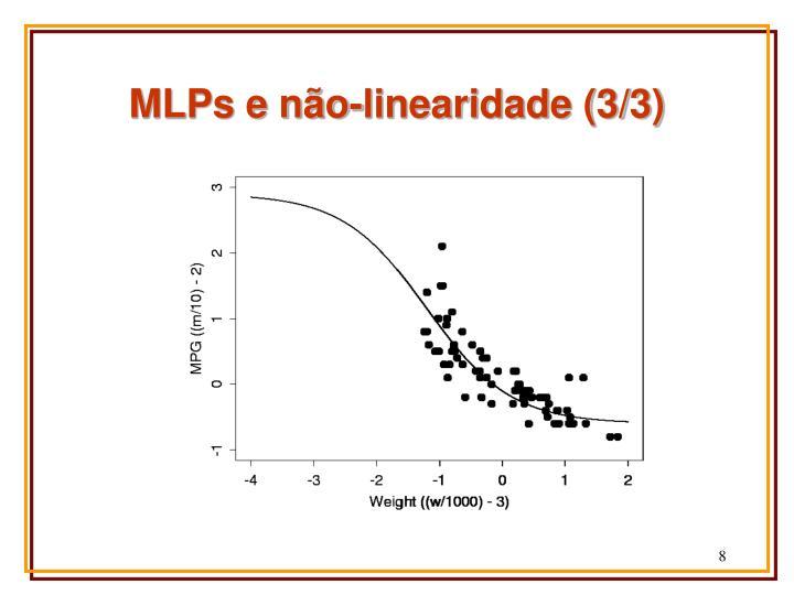 MLPs e não-linearidade (3/3)