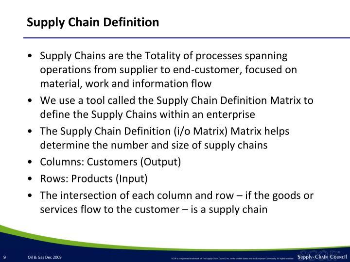 Supply Chain Definition