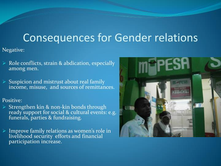 Consequences for Gender relations