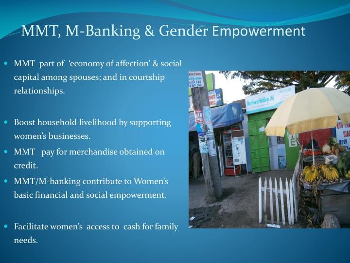 MMT, M-Banking & Gender