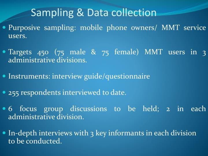 Sampling & Data collection