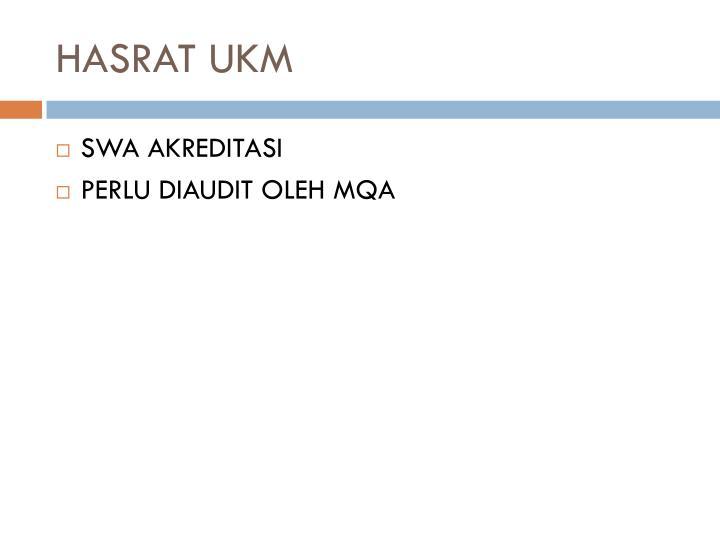 HASRAT UKM