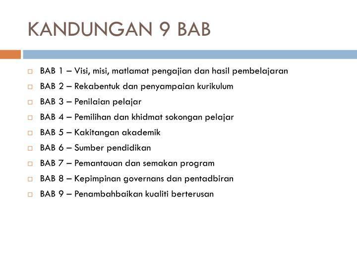 KANDUNGAN 9 BAB