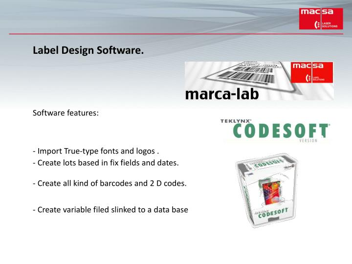 Label Design Software.