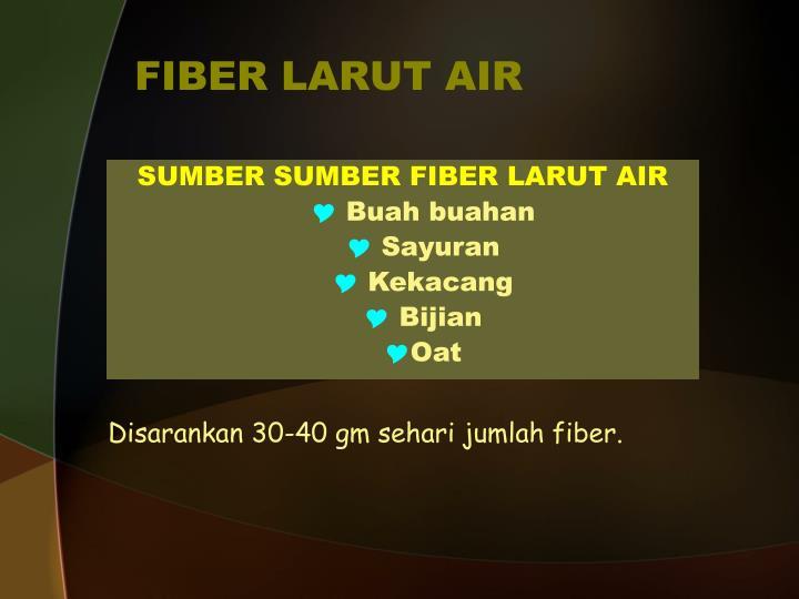 FIBER LARUT AIR