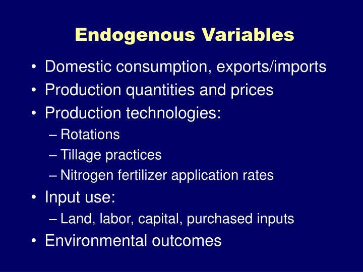 Endogenous Variables